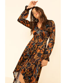 Shyanne Women's Olive Floral Maxi Dress, Olive, hi-res