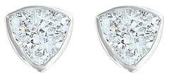 Montana Silversmiths Women's Treasured Trillion Sparkling Earrings, Silver, hi-res