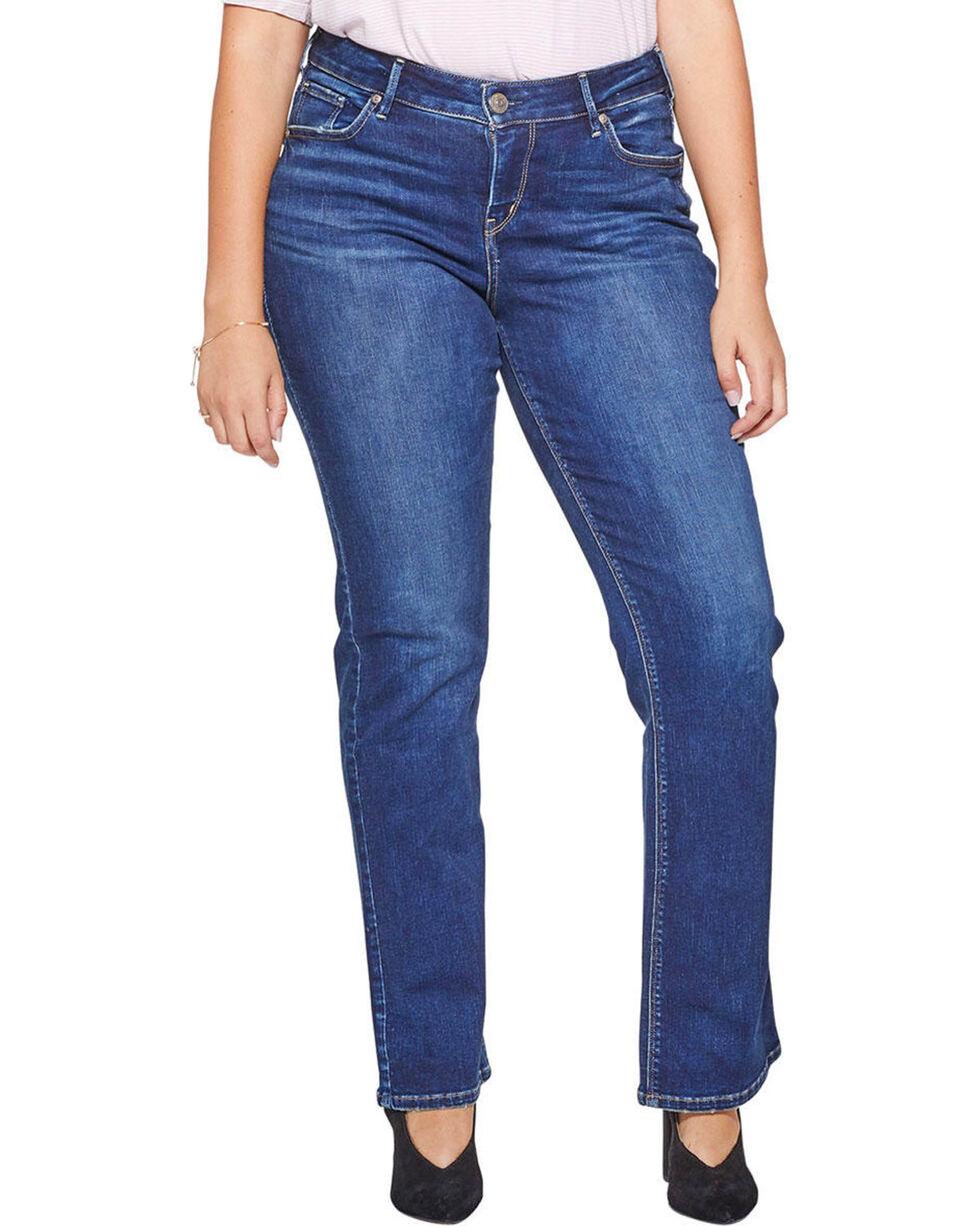 Silver Jeans Women's Avery Slim Fit Boot Cut Jeans - Plus Size , Indigo, hi-res