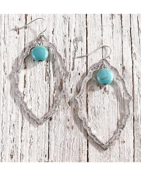 Shyanne Women's Scalloped Cutout Earrings, Silver, hi-res