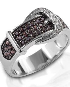 Kelly Herd Women's Cognac Buckle Ring , Silver, hi-res