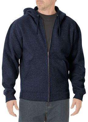 Dickies Midweight Fleece Zip-Up Hooded Work Jacket - Big & Tall, Navy, hi-res