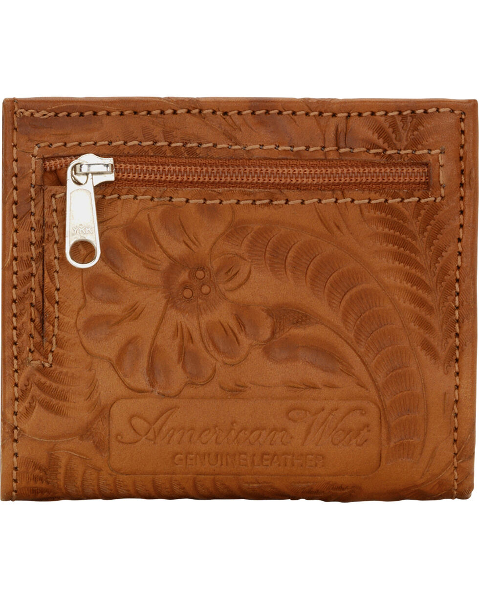 American West Boyfriend Ladies Bi-Fold Wallet, Golden Tan, hi-res