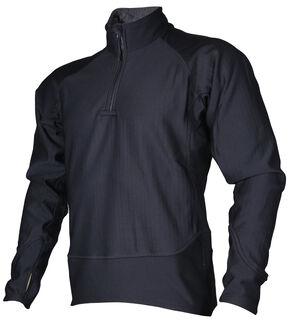 Tru-Spec Men's Black 24-7 Cross-Fit Grid Fleece Pullover , Black, hi-res