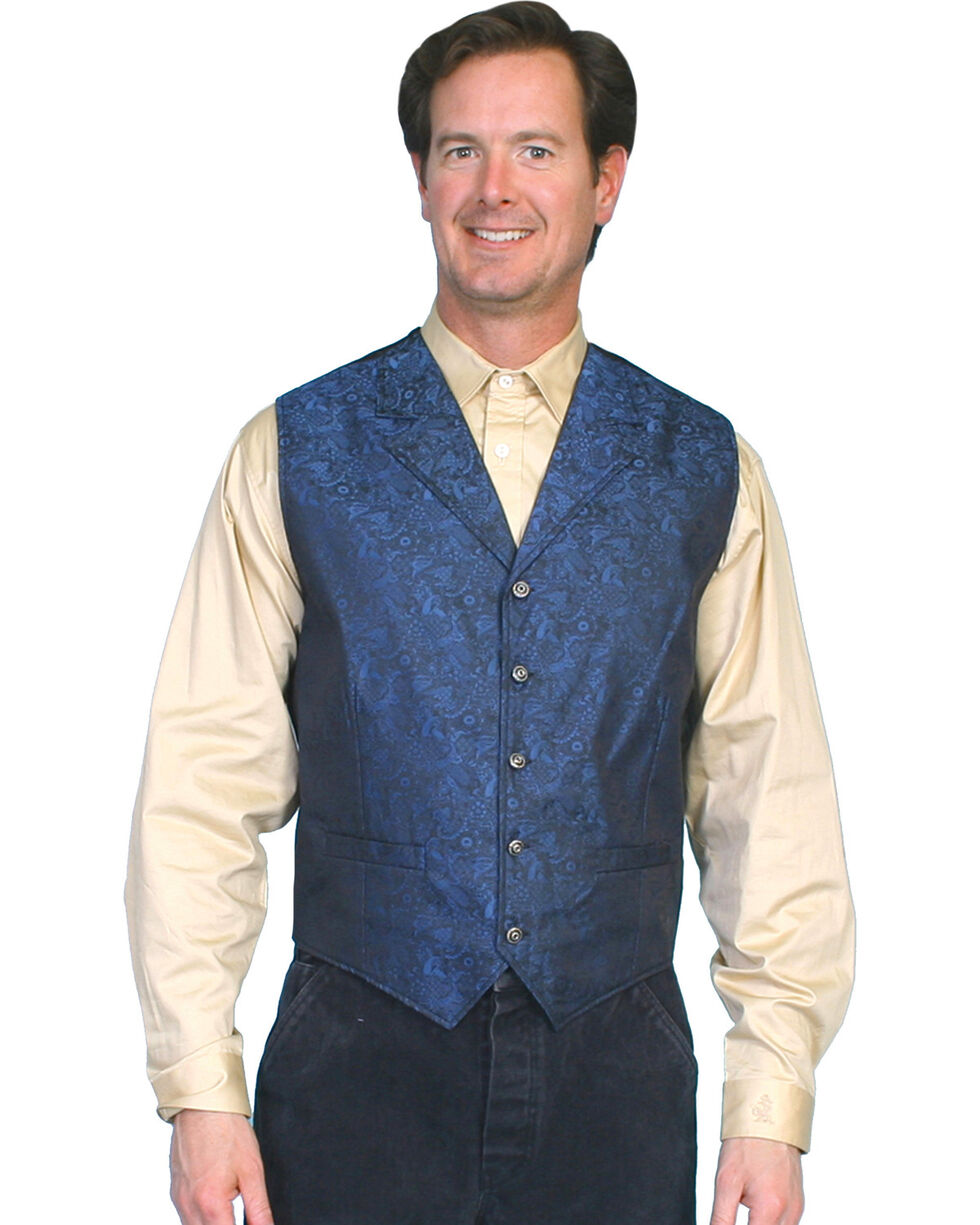 Rangewear by Scully Paisley Vest - Big and Tall, Blue, hi-res