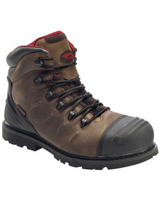 Avenger Men's Waterproof Work Boots - Composite Toe, Brown, hi-res