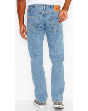 Levi's Men's 501 Original Fit Stonewashed Jeans, Blue, hi-res