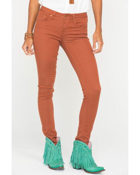 Wrangler Women's Orange Premium Patch Jeans - Skinny , Orange, hi-res