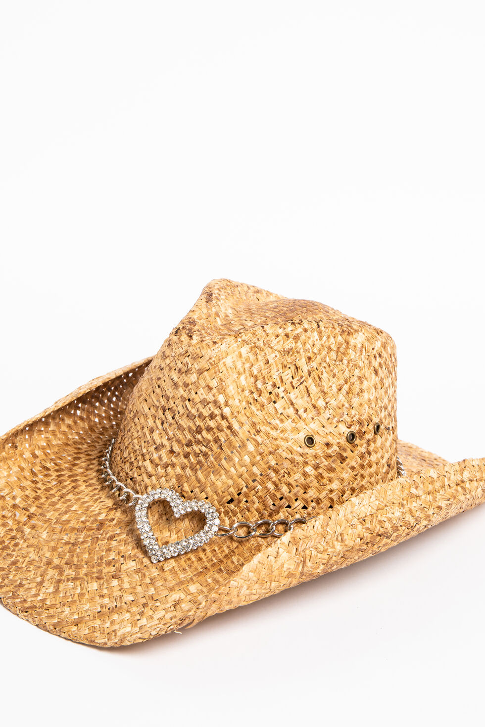 Shyanne Women's Heart Attack Cowboy Hat, Brown, hi-res