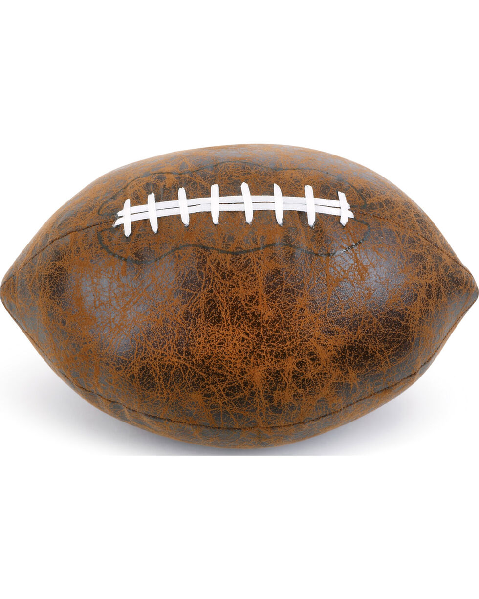 Demdaco Brown Faux Leather Football Door Stop , Brown, hi-res