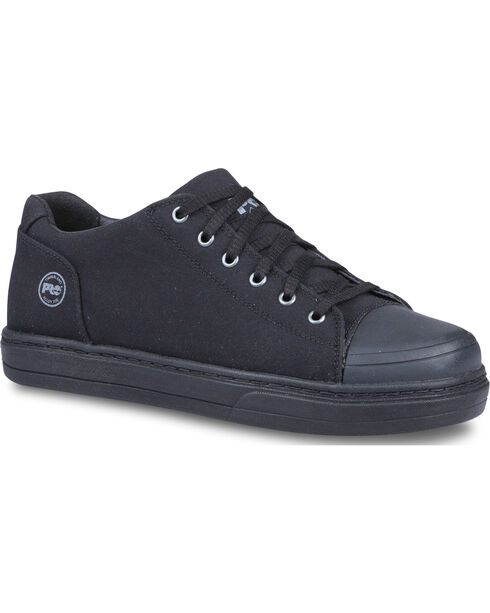 Timberland Men's Black Pro Disruptor Canvas Work Shoes - Alloy Toe , Black, hi-res