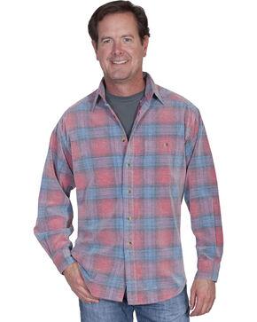 Scully Men's Yard Dye Corduroy Plaid Shirt, Red, hi-res