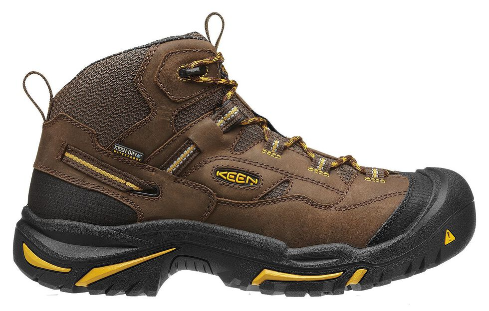 Keen Men's Braddock Mid Waterproof Boots - Steel Toe, Brown, hi-res