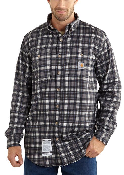 Carhartt Flame Resistant Classic Plaid Shirt, Steel, hi-res