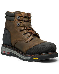 Justin Men's Warhawk Waterproof Work Boots - Composite Toe, Tan, hi-res