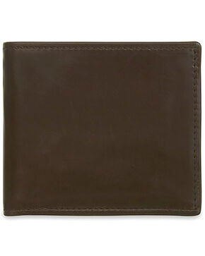 Lucchese Men's Brown Leather Hipster Wallet, Dark Brown, hi-res