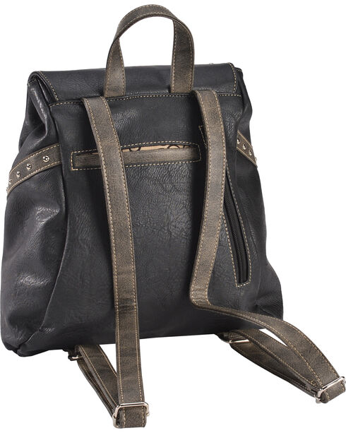 Wear N.E. Wear Women's Bling Cross Western Backpack, Black, hi-res