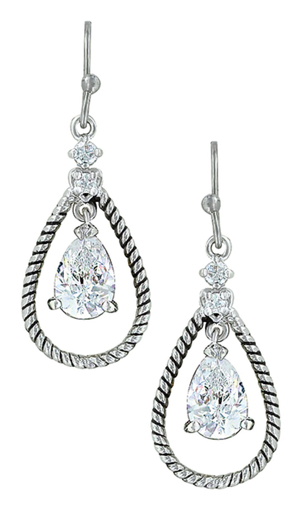 Montana Silversmiths Women's Catch the Rain Earrings , Silver, hi-res