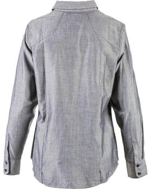 5.11 Tactical Women's Chambray Shirt , Charcoal, hi-res