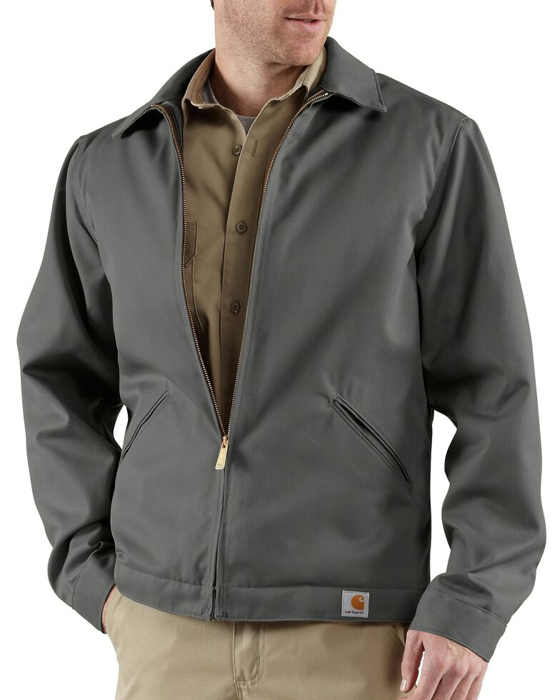 Carhartt Midweight Quilt-Lined Twill Work Jacket - Big & Tall, Grey, hi-res