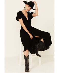 Beyond The Radar Women's Lace Button Dress, Black, hi-res