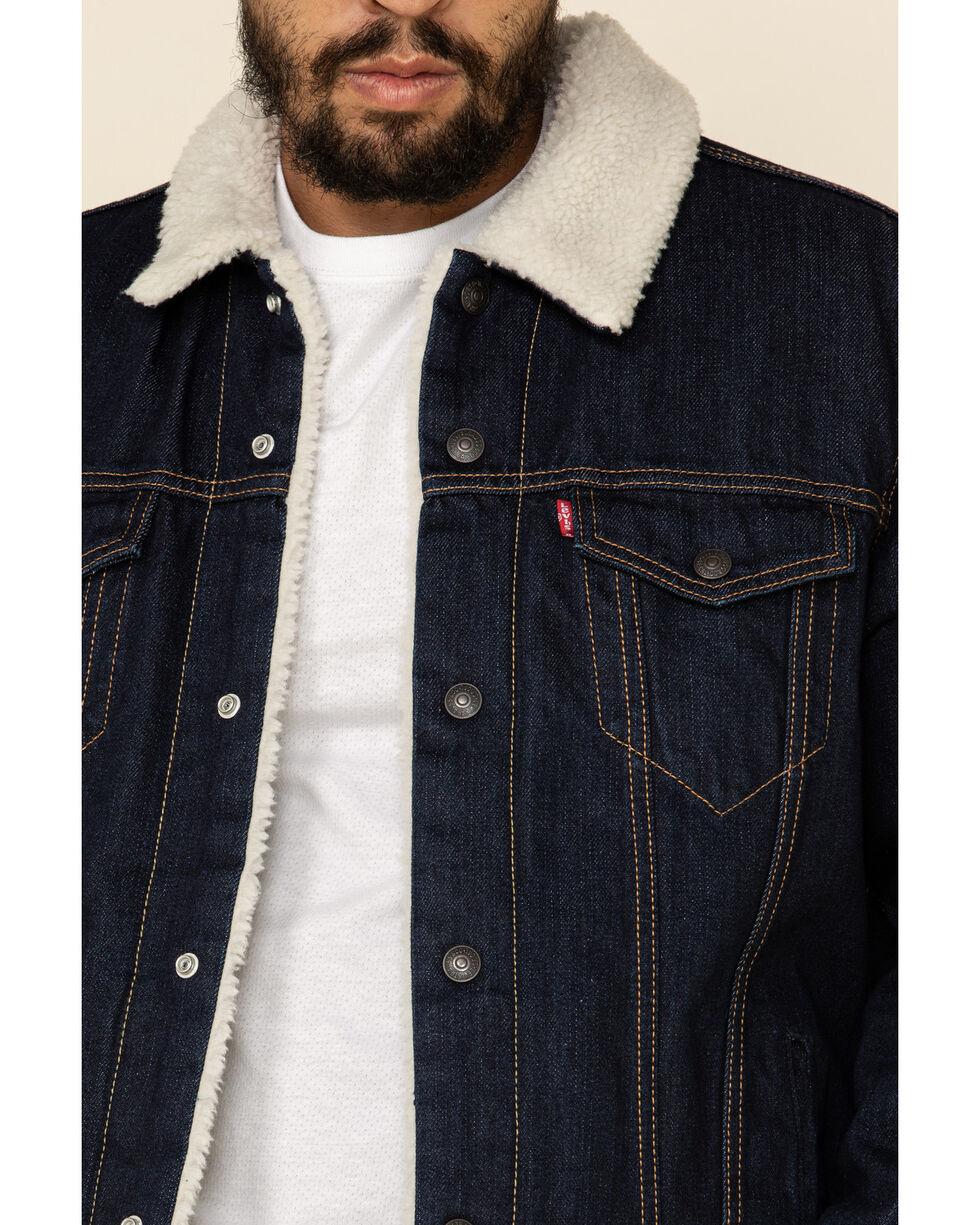 Levi/'s Men/'s Juniper Sherpa Lined Trucker Denim Jacket 16365-0075
