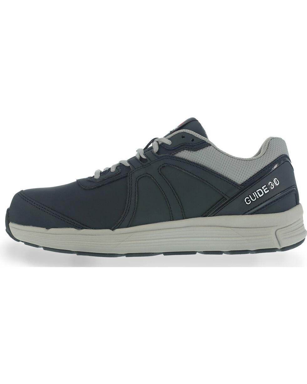 Reebok Men's Leather Athletic Oxfords - Steel Toe, Navy, hi-res