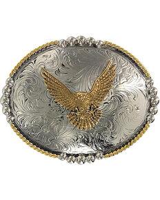 Cody James Oval Eagle Belt Buckle, Silver, hi-res