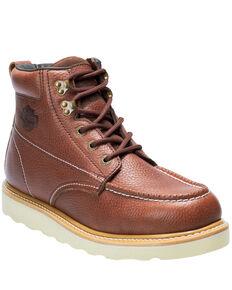 Harley Davidson Men's Bosworth Work Boots - Moc Toe, Brown, hi-res