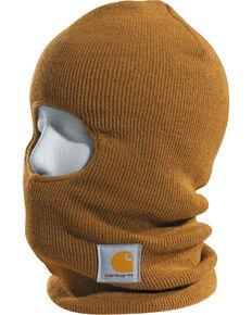 Carhartt Rib Knit Face Mask, Brown, hi-res