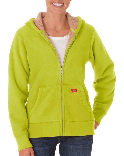 Dickies Sherpa Lined Fleece Jacket, Lime, hi-res