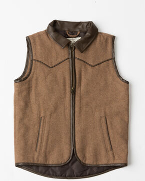 Cody James Boys' Western Wool Vest , Heather Grey, hi-res