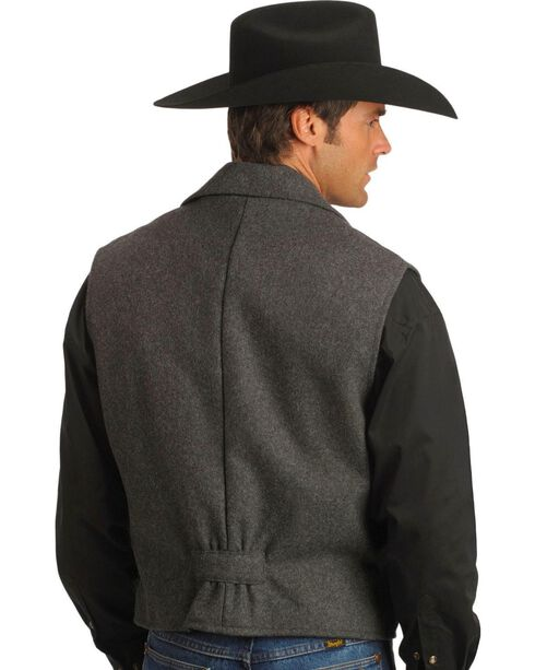 Schaefer Cattle Baron Wool Blend Vest, Charcoal Grey, hi-res
