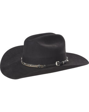 Phunky Horse Starfish Leather Hat Band , Black, hi-res