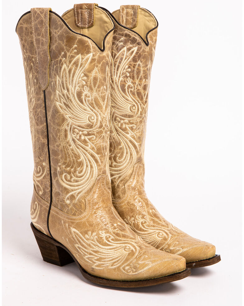 Corral All Over Embroidered Cowgirl Boots - Snip Toe, , hi-res