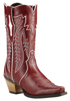 Ariat Lipstick Red Calamity Cowgirl Boots - Snip Toe , Red, hi-res