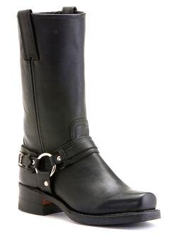 Frye Men's Belted Harness 12R Boots - Square Toe, Black, hi-res
