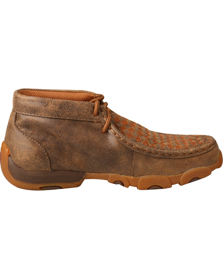 Twisted X Boys' Tall Driving Moccasin Boots - Round Toe , Brown, hi-res