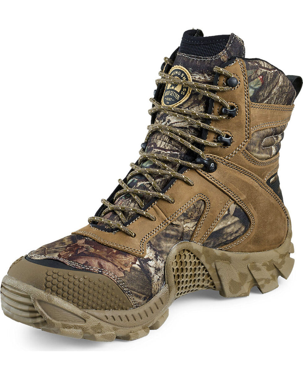 """Irish Setter by Red Wing Shoes Men's Mossy Oak Vaprtrek Insulated Waterproof 8"""" Boots , Camouflage, hi-res"""