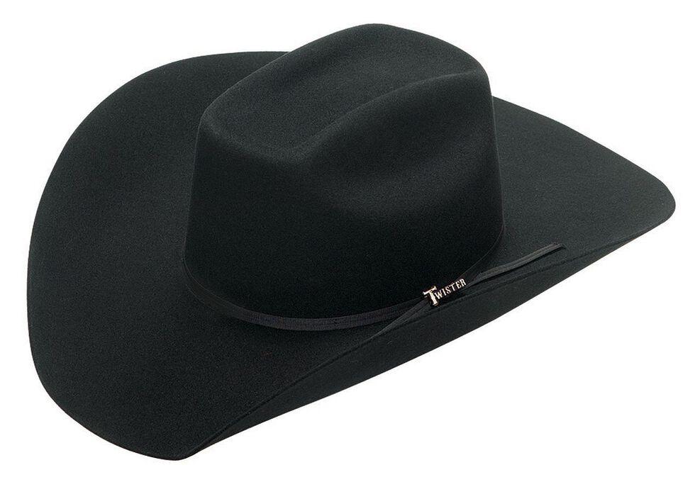 Twister Colton 2X Select Wool Cowboy Hat, Black, hi-res