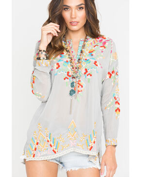 Johnny Was Women's Embroidered Jessa Tunic, Grey, hi-res