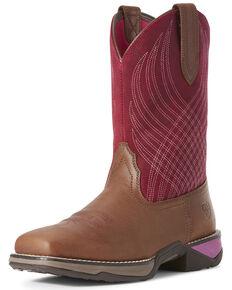 Ariat Women's Anthem Matte Western Boots - Square Toe, Purple, hi-res