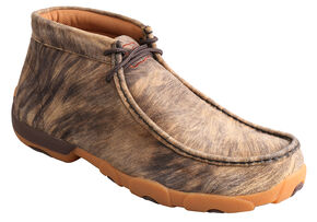 Twisted X Men's Leather Hyena Driving Mocs, Distressed, hi-res