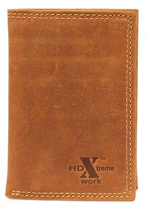Nocona HDX Tri-Fold Wallet, Med Brown, hi-res