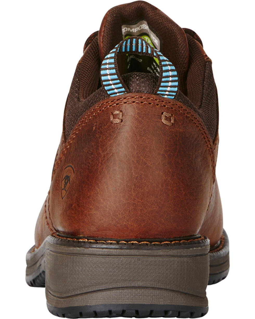 Ariat Women's Oxford Work Shoes - Comp Toe, Brown, hi-res