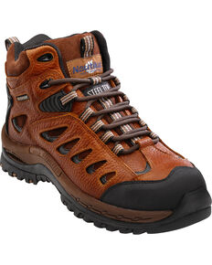 Nautilus Men's Brown Waterproof Lace-Up Work Boots - Steel Toe, Brown, hi-res
