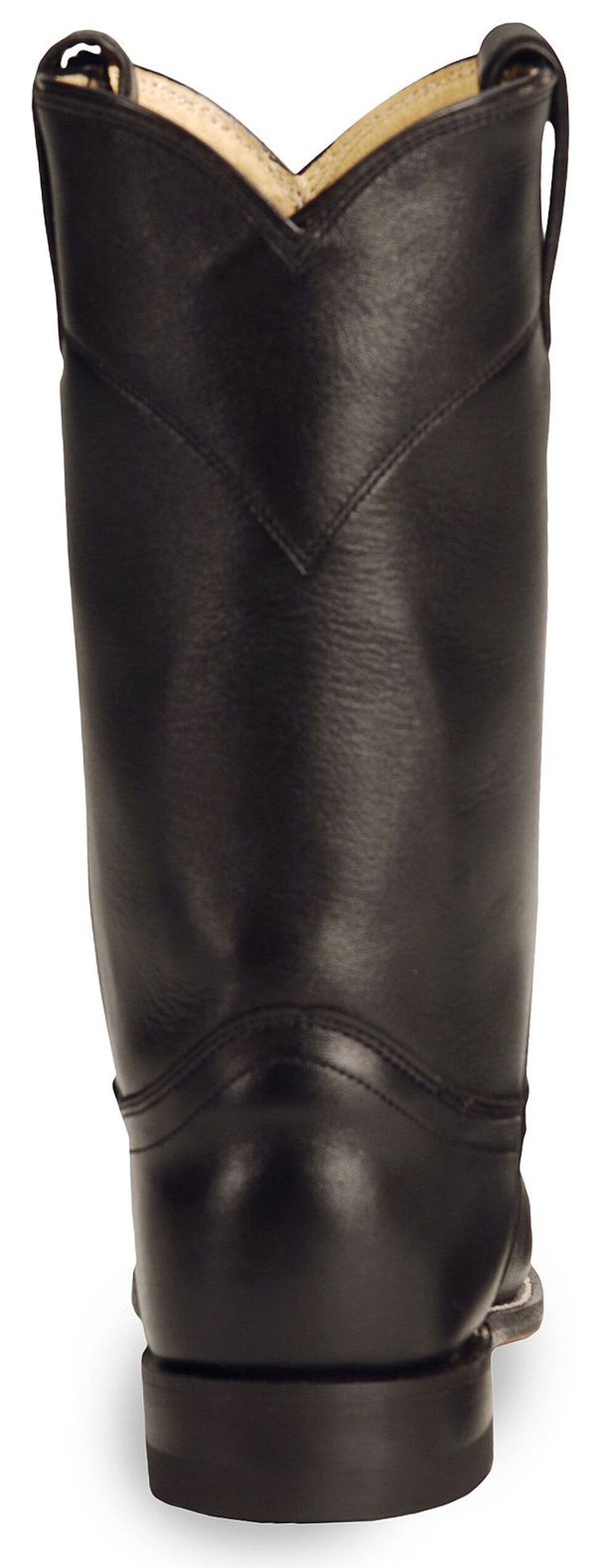Justin Women's Original Black Roper Boots - Round Toe, Black, hi-res