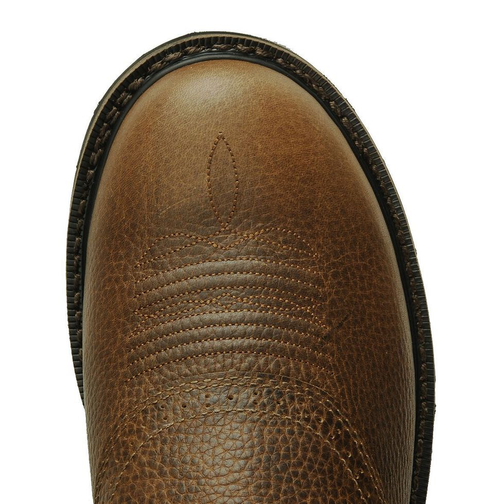 Justin Men's Stampede Superintendent Brown Work Boots - Soft Toe, Tan, hi-res