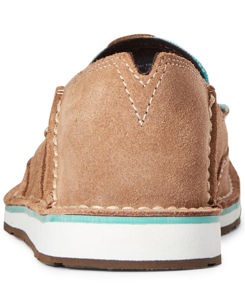 Ariat Women's Aztec Print Suede Cruiser Shoes - Moc Toe, Brown, hi-res
