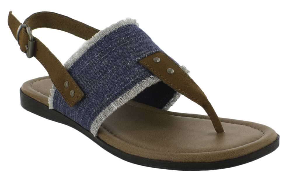 Minnetonka Women's Panama Sandals, Blue, hi-res